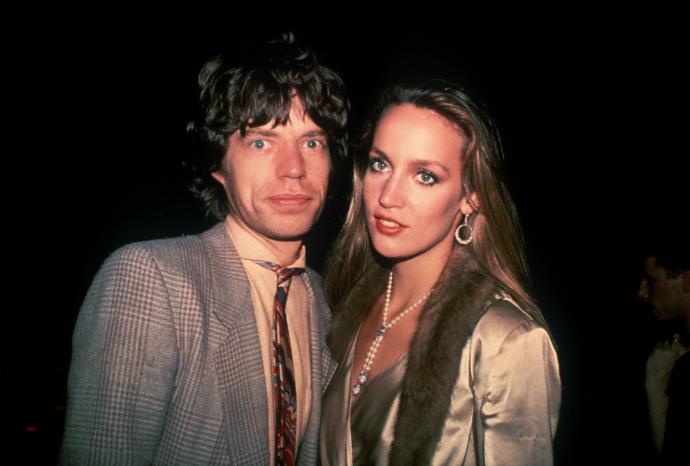 Мик Джаггер и Джерри Холл в 1979 году