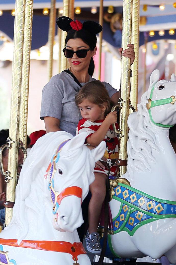 Кортни Кардашьян с дочерью