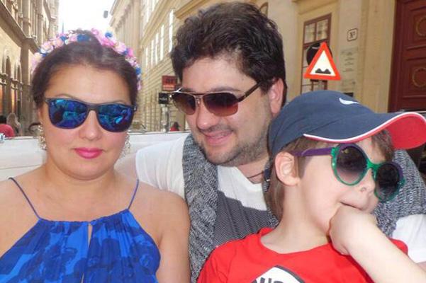Анна Нетребко с сыном Тьяго и Юсиф Эйвазов