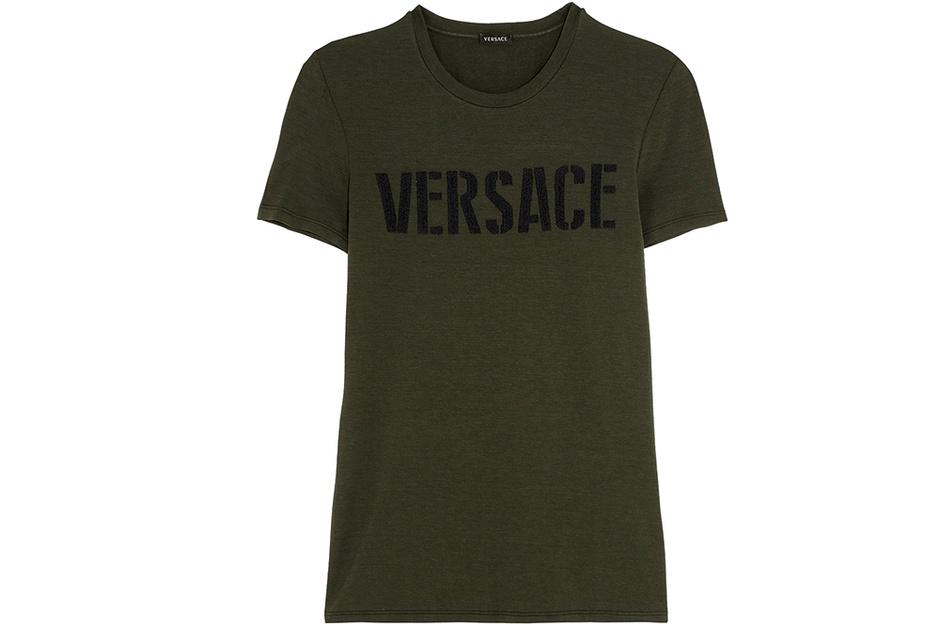 Футболка из хлопка, Versace.