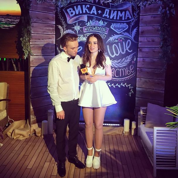 Молодожены Дмитрий Клейман и Виктория Дайнеко