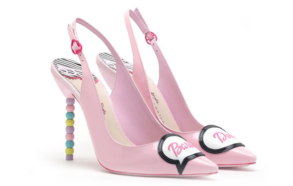 Розовые туфли без задника