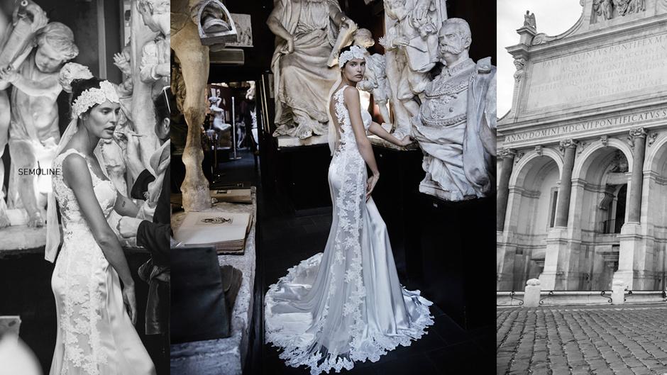 Свадебное платье с головным убором: фото