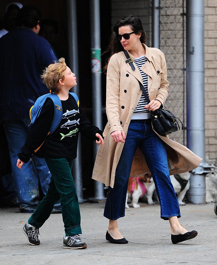 Лив Тайлер с сыном Майло