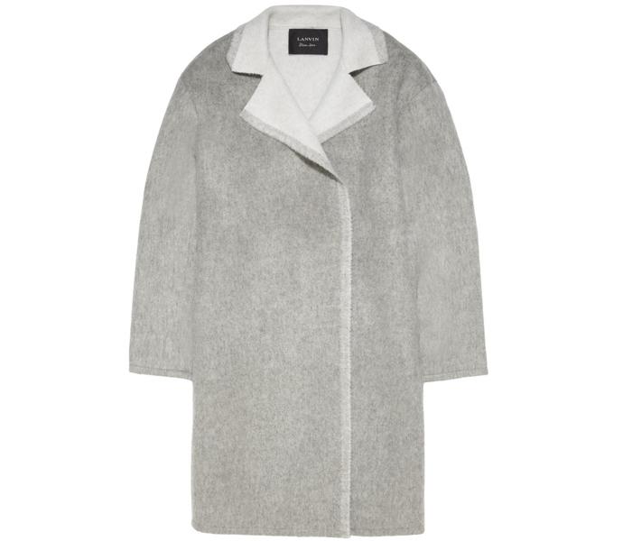 Серое пальто Lanvin