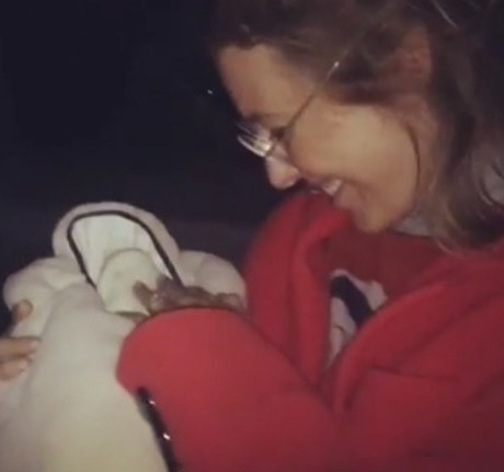 Первые фото Ксении Собчак с новорожденным сыном