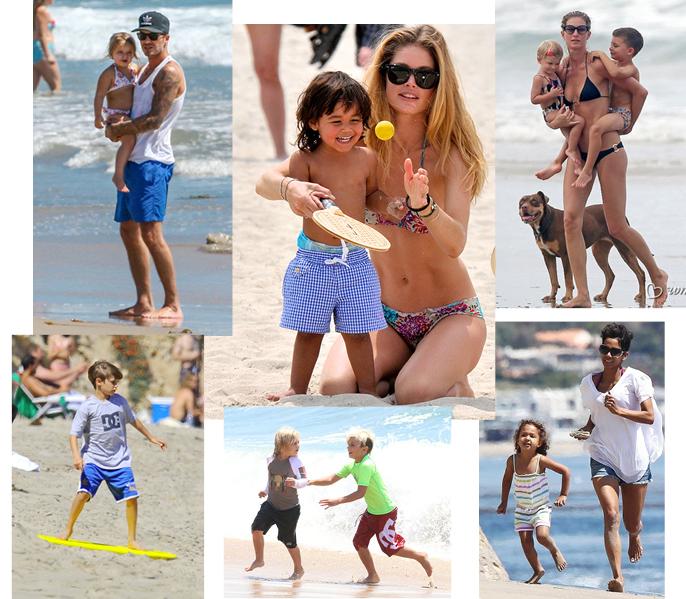 Дети знаменитостей на пляже