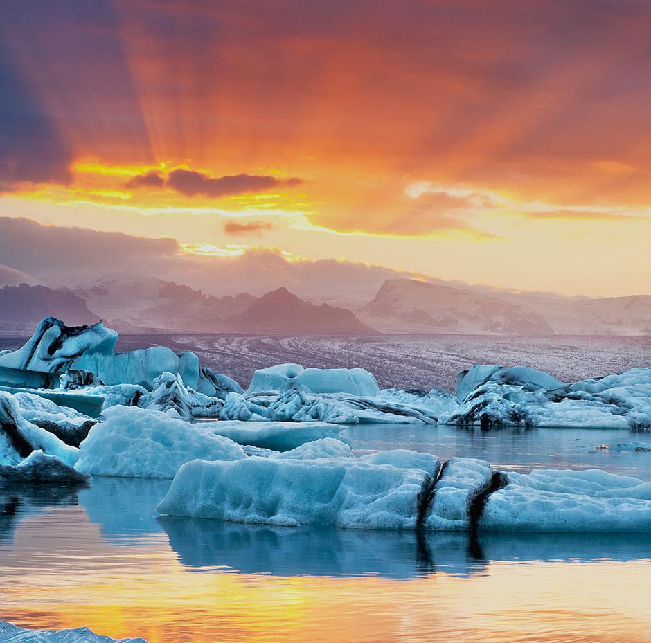 Озеро Екюльсаурлоун, Исландия