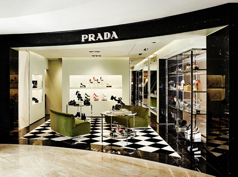 Открытие нового корнера Prada
