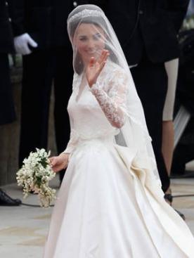 Свадебное платье Кейт Миддлтон будет выставлено в Букингемском дворце