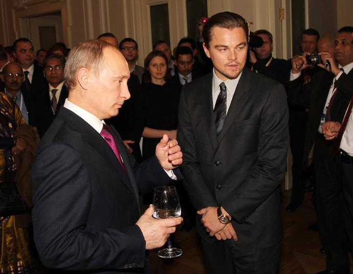 Леонардо Ди Каприо и Владимир Путин