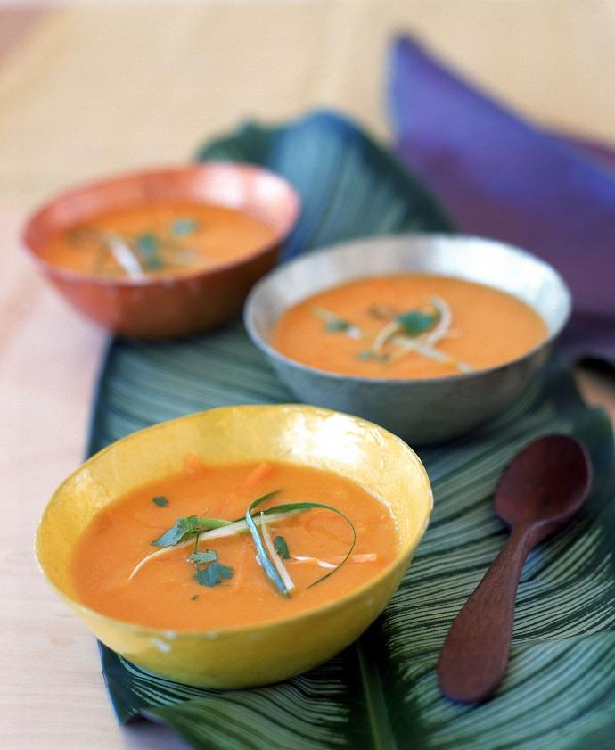 Суп-пюре из моркови с имбирем