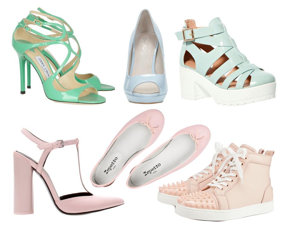 Пастель Модная обувь сезона весна лето 2014: тренды, фото лучших моделей.