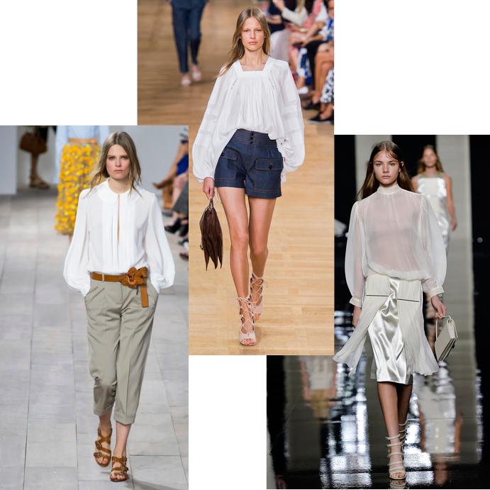 Модные блузки весна лето 2015