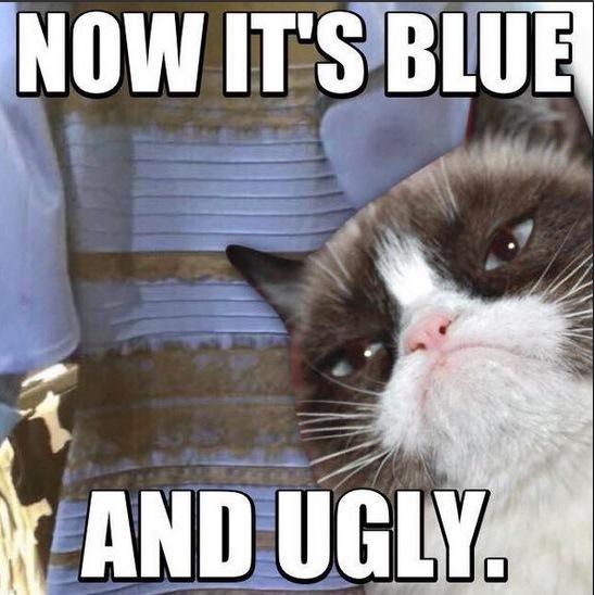 А сейчас оно синее. И уродливое