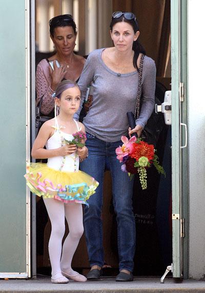 Кортни Кокс с дочкой