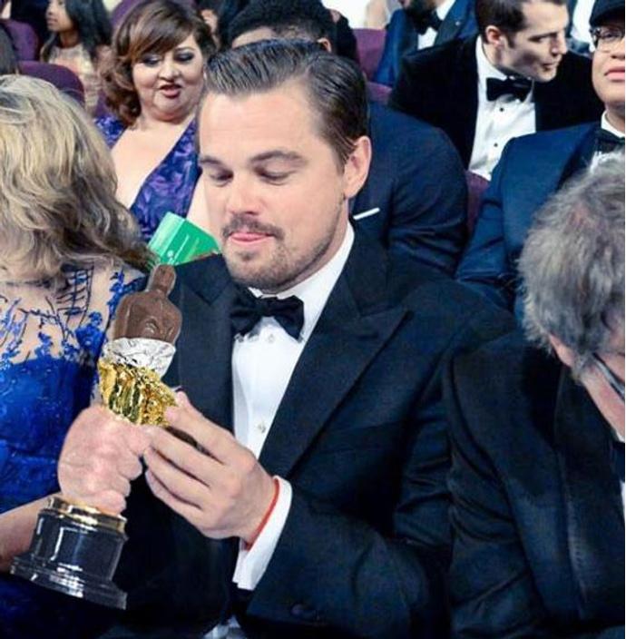 Леонардо Ди Каприо и шоколадный Оскар