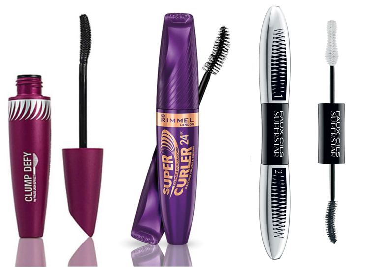1. Clumb Defy от MaxFactor; 2. Supercurler Mascara от Rimmel; 3. L'Oreal Paris Superstar