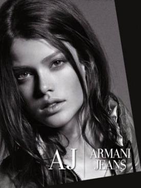 Юлия Санер – новое лицо Armani Jeans