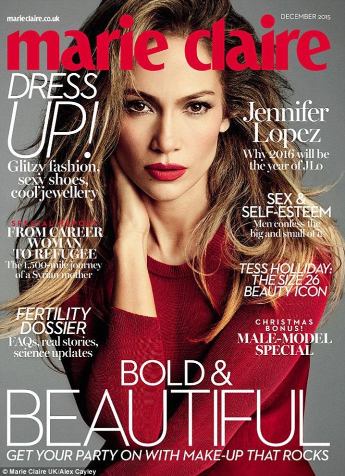 Дженнифер Лопес на обложке британского Marie Claire