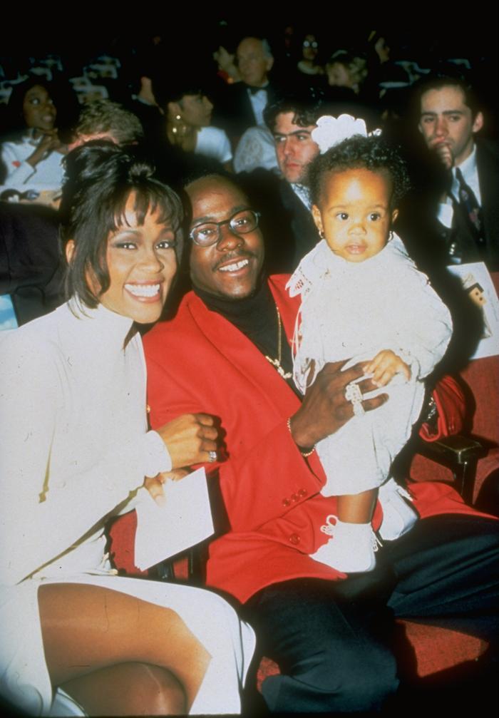 Уитни Хьюстон и Бобби Браун с дочерью: фото