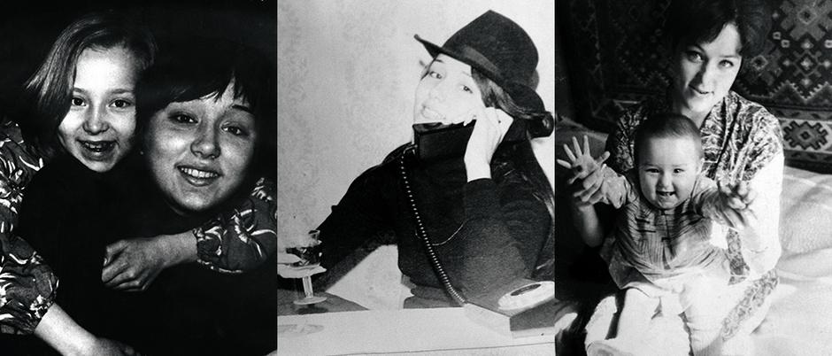 Зоя с мамой; Юлианна Бербер, мама; Валентина Григорьевна Смирнова, бабушка
