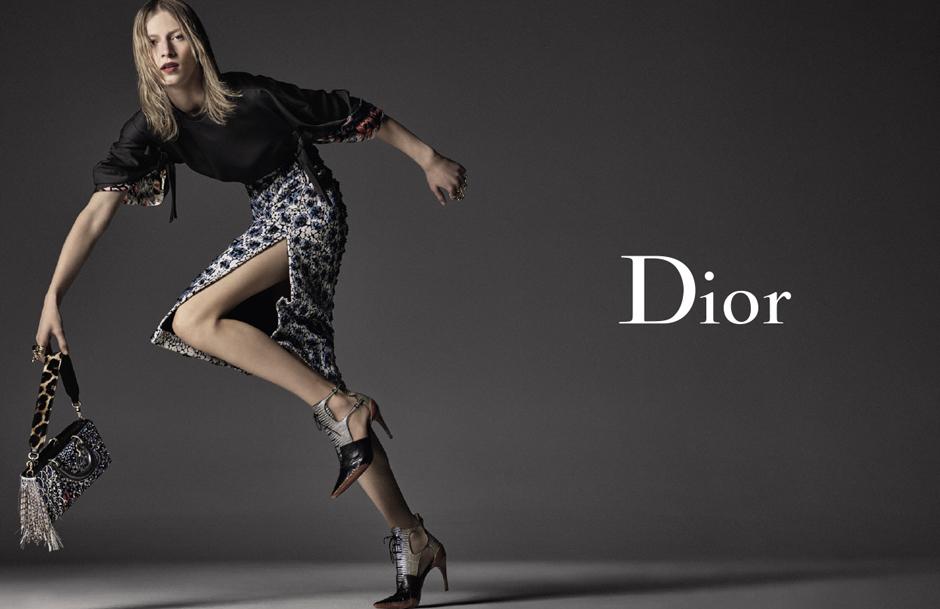 Джулия Нобис в новой рекламной кампании Dior