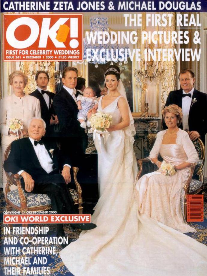 Съемка свадьбы Майкла Дугласа и Кэтрин Зеты-Джонс для журнала OK