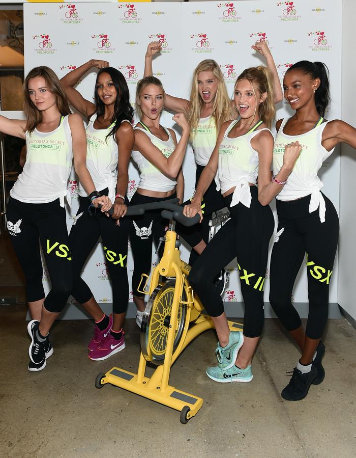 Модели Victoria's Secret в спортивной одежде: фото 2015
