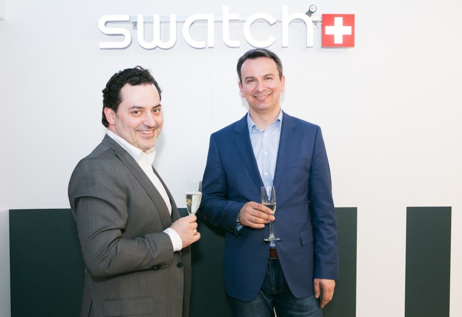 Теймураз Гугуберидзе (ГУМ) и Стефан Петер (Swatch)