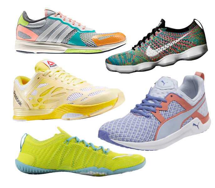 Adidas Yvori, Nike Air Zoom Flyknit Agility, Reebok Cardio Ultra, PUMA Pulse XT, Nike Cross Bionic TR
