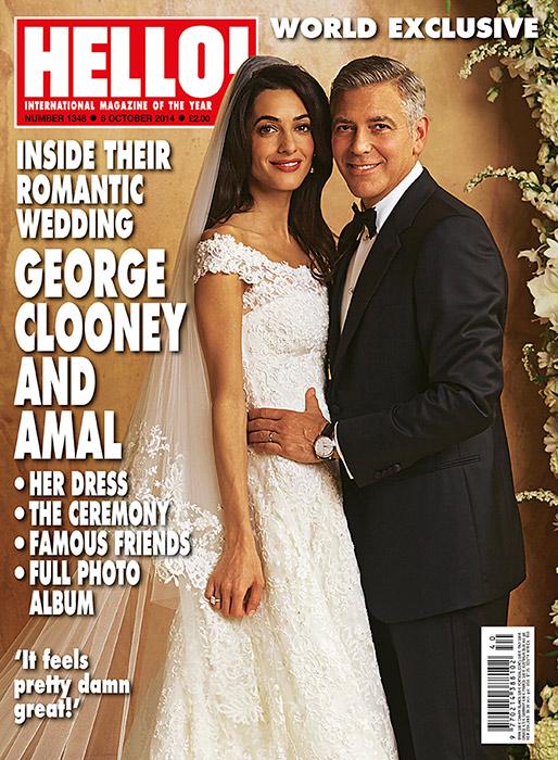 Джордж Клуни и Амаль Аламуддин на обложке HELLO!