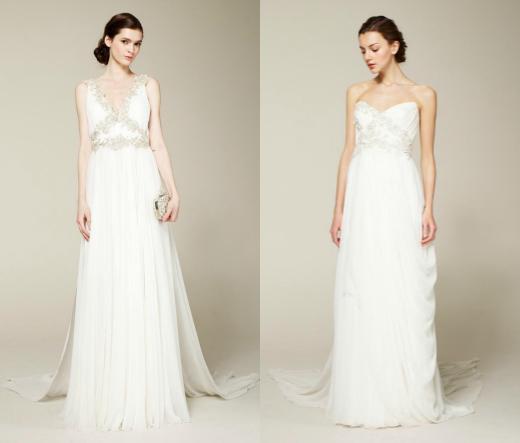 Свадебные платья-ампир от Marchesa