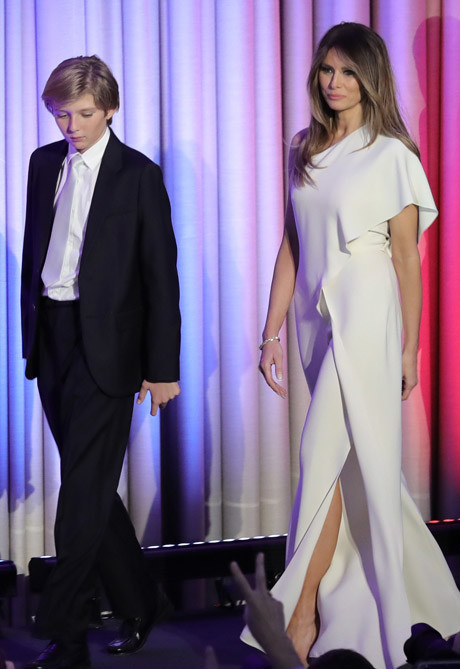 Баррон Трамп и Мелания Трамп