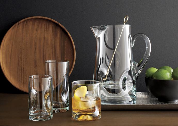 Crate&Barrel, весенняя коллекция, стекло
