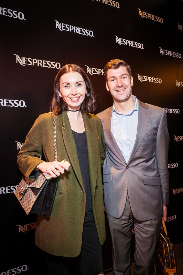 Равшана Куркова и Иван Вырыпаев на открытии флагманского бутика Nespresso