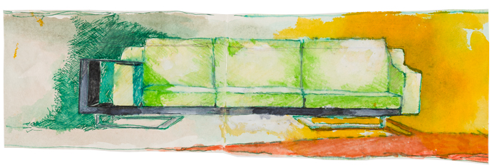 Эскизы предметов из коллекции Rubelli Casa