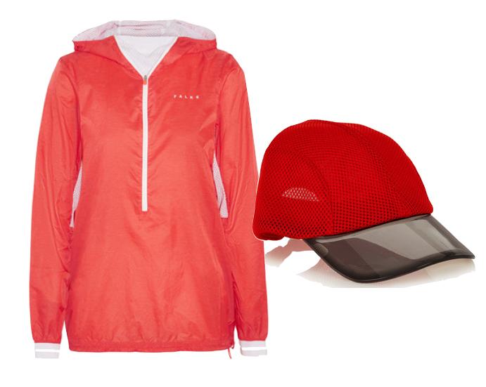 Выбор ELLE: ветровка Falke Ergonomic Sport System, кепка Adidas by Stella McCartney