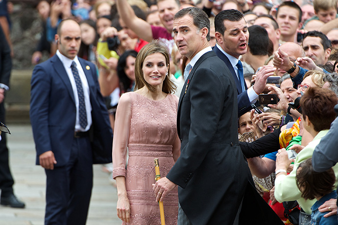 Король Испании Фелипе и королева Летисия