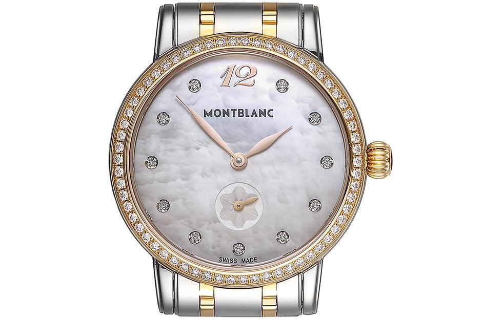 Часы Montblanc Star Classique Lady Small Second, сталь, розовое золото, бриллианты, Montblanc, 307 707 руб.