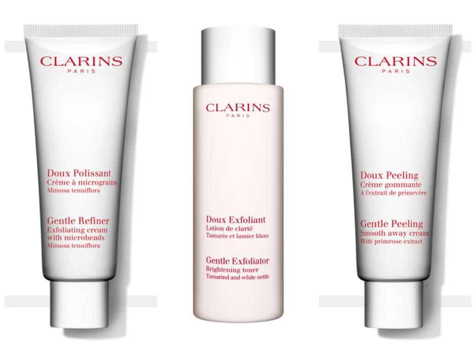 Clarins Gentle Refiner & Gentle Peeling & Gentle Exfoliator