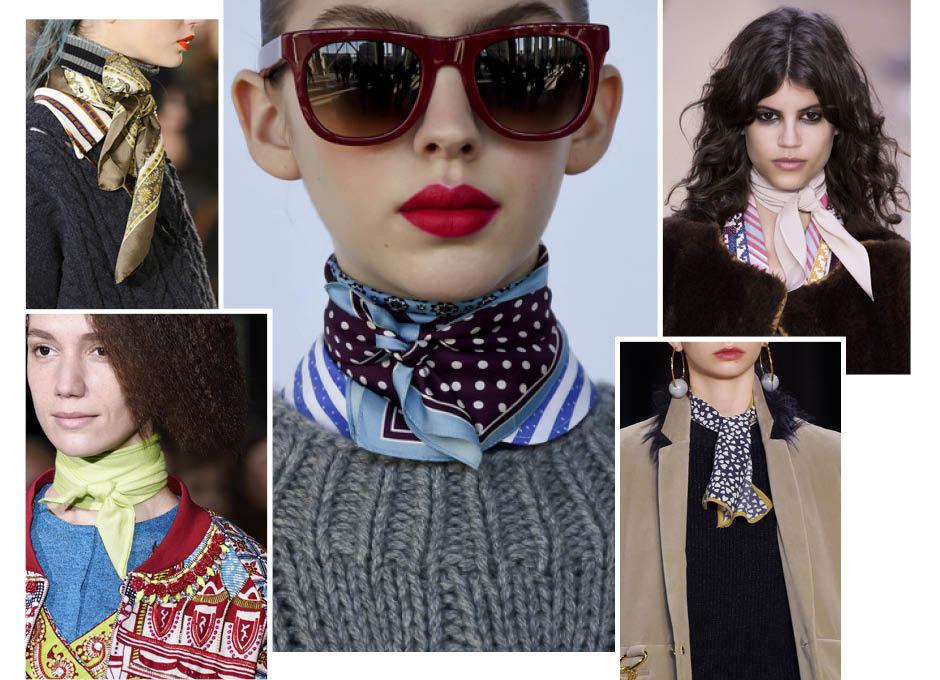 Модные шарфы осень фото