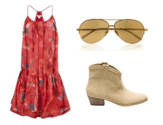 Платье DKNY, очки Linda Farrow, сапоги Stradivarius