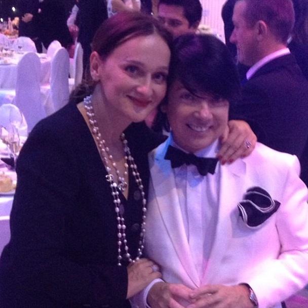 Елена Сотникова и Валентин Юдашкин