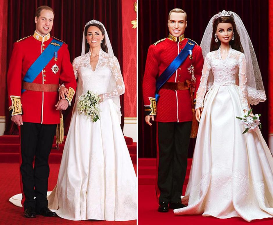 Куклы «Принц Уильям» и «Кейт Миддлтон»