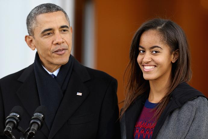 Барак и Малия Обама фото