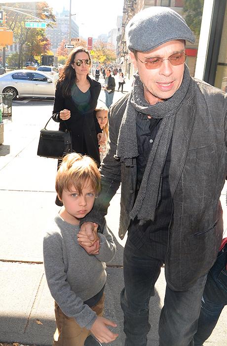 Брэд Питт с сыном Ноксом