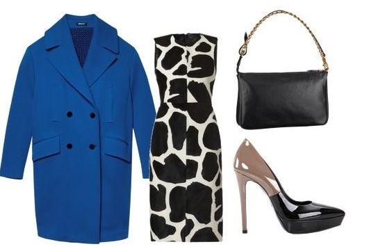 Пальто – DKNY; платье – Burberry; сумка – Louis Vuitton; туфли - Loriblu