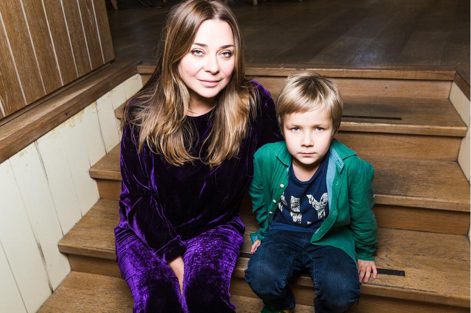 Наталья Лучанинова с сыном Давидом