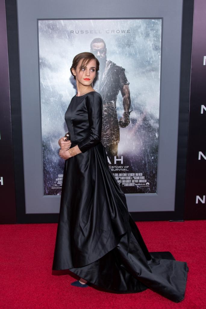 Эмма Уотсон в Oscar de la Renta, премьера фильма «Ной» в Нью-Йорке
